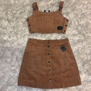 Corduroy skirt set